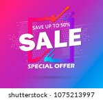 super sale and special offer.... | Shutterstock .eps vector #1075213997