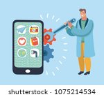 vector cartoon illustration of... | Shutterstock .eps vector #1075214534