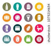 beer icon set | Shutterstock .eps vector #1075214654