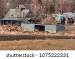 an old neglected farm and... | Shutterstock . vector #1075222331