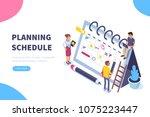 planning schedule concept... | Shutterstock .eps vector #1075223447