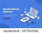 online medical concept banner... | Shutterstock .eps vector #1075225181