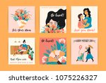 happy mothers day. vector... | Shutterstock .eps vector #1075226327