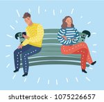 vector cartoon illustration of... | Shutterstock .eps vector #1075226657