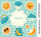 poster design template with... | Shutterstock .eps vector #1075229351