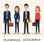 group of people human resources | Shutterstock .eps vector #1075230914