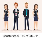business people group avatars... | Shutterstock .eps vector #1075233344
