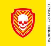 vector skull danger sign   Shutterstock .eps vector #1075245245