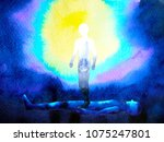 human soul spirit and body... | Shutterstock . vector #1075247801