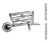grunge handcart vehicle to... | Shutterstock .eps vector #1075248254