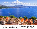 panoramic view of a beautiful... | Shutterstock . vector #1075249505