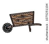 doodle handcart vehicle to... | Shutterstock .eps vector #1075251104