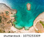 emerald water at seaside in... | Shutterstock . vector #1075253309