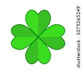 four leaf green clover hand... | Shutterstock .eps vector #1075265249