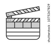 clapperboard color icon. time... | Shutterstock .eps vector #1075267829