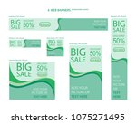 six web banners standard sizes... | Shutterstock .eps vector #1075271495