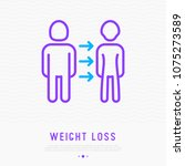 weight loss related to disease... | Shutterstock .eps vector #1075273589