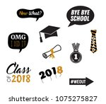 graduation party vector design... | Shutterstock .eps vector #1075275827