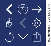 direction outline vector icon...