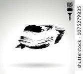 black brush stroke and texture. ... | Shutterstock .eps vector #1075279835