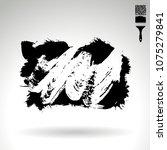black brush stroke and texture. ... | Shutterstock .eps vector #1075279841