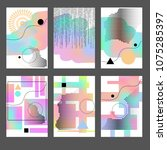 set of abstract business title... | Shutterstock .eps vector #1075285397