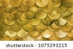 magic mermaid golden scales... | Shutterstock . vector #1075293215