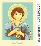 saint tarcisius patron saint of ... | Shutterstock .eps vector #1075293224