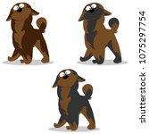 vector illustration set of dog... | Shutterstock .eps vector #1075297754