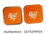 best buy stickers | Shutterstock .eps vector #1075299935