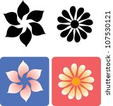 flower 1. floral element for... | Shutterstock .eps vector #107530121