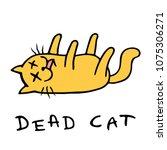 cartoon cat lost consciousness. ... | Shutterstock .eps vector #1075306271