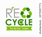 recycle poster with logo.... | Shutterstock .eps vector #1075307771