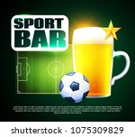 sport football bar menu design... | Shutterstock .eps vector #1075309829