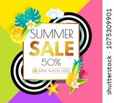 summer sale layout design... | Shutterstock .eps vector #1075309901
