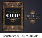 elegant vintage card  flyer ... | Shutterstock .eps vector #1075309904