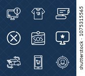 premium set with outline icons. ... | Shutterstock .eps vector #1075315565