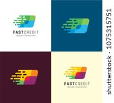 fast credit logo and icon.... | Shutterstock .eps vector #1075315751