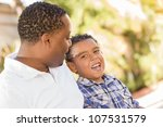 happy african american father... | Shutterstock . vector #107531579
