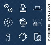 premium set with outline icons. ... | Shutterstock .eps vector #1075316705