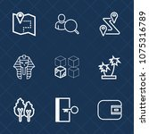 premium set with outline icons. ... | Shutterstock .eps vector #1075316789