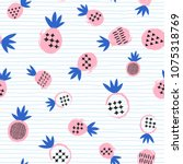 pineapple tropical seamless... | Shutterstock .eps vector #1075318769