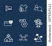 premium set with outline icons. ...   Shutterstock .eps vector #1075319111