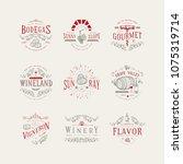 wine badge. craft retro vintage ... | Shutterstock .eps vector #1075319714