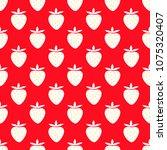 juicy strawberries  cute vector ... | Shutterstock .eps vector #1075320407