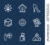 premium set with outline icons. ...   Shutterstock .eps vector #1075322111