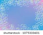 soap foam on gradient... | Shutterstock .eps vector #1075333601