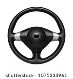 steering wheel  isolated on the ... | Shutterstock . vector #1075333961