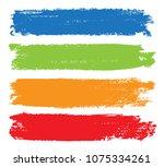 grunge banner for your design... | Shutterstock .eps vector #1075334261