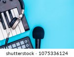music recording equipment on...   Shutterstock . vector #1075336124
